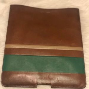 Coach Tablet IPad Leather Case
